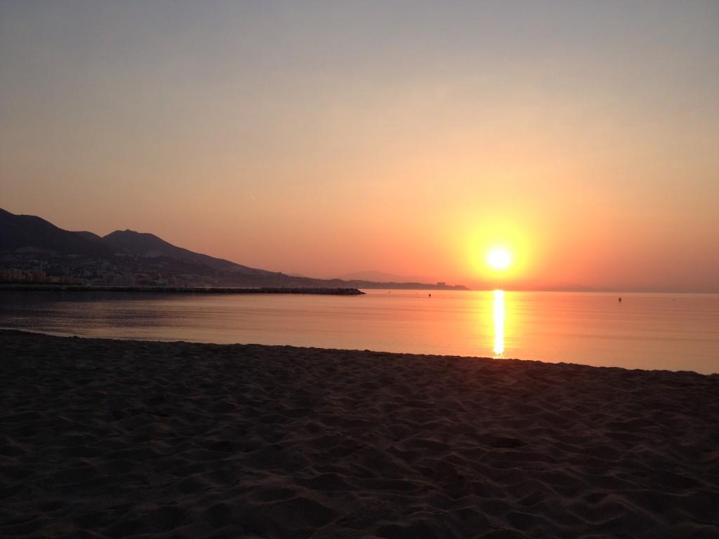Sunrise on the local beach