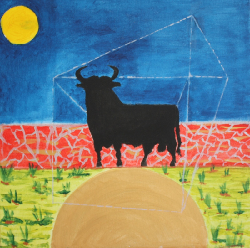 Black Bull - 40 x 40 cm. acry on canvas