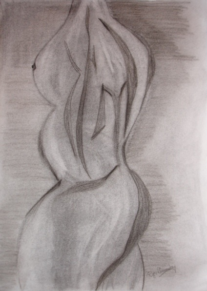 Abstract nude b55 - R Cummiskey
