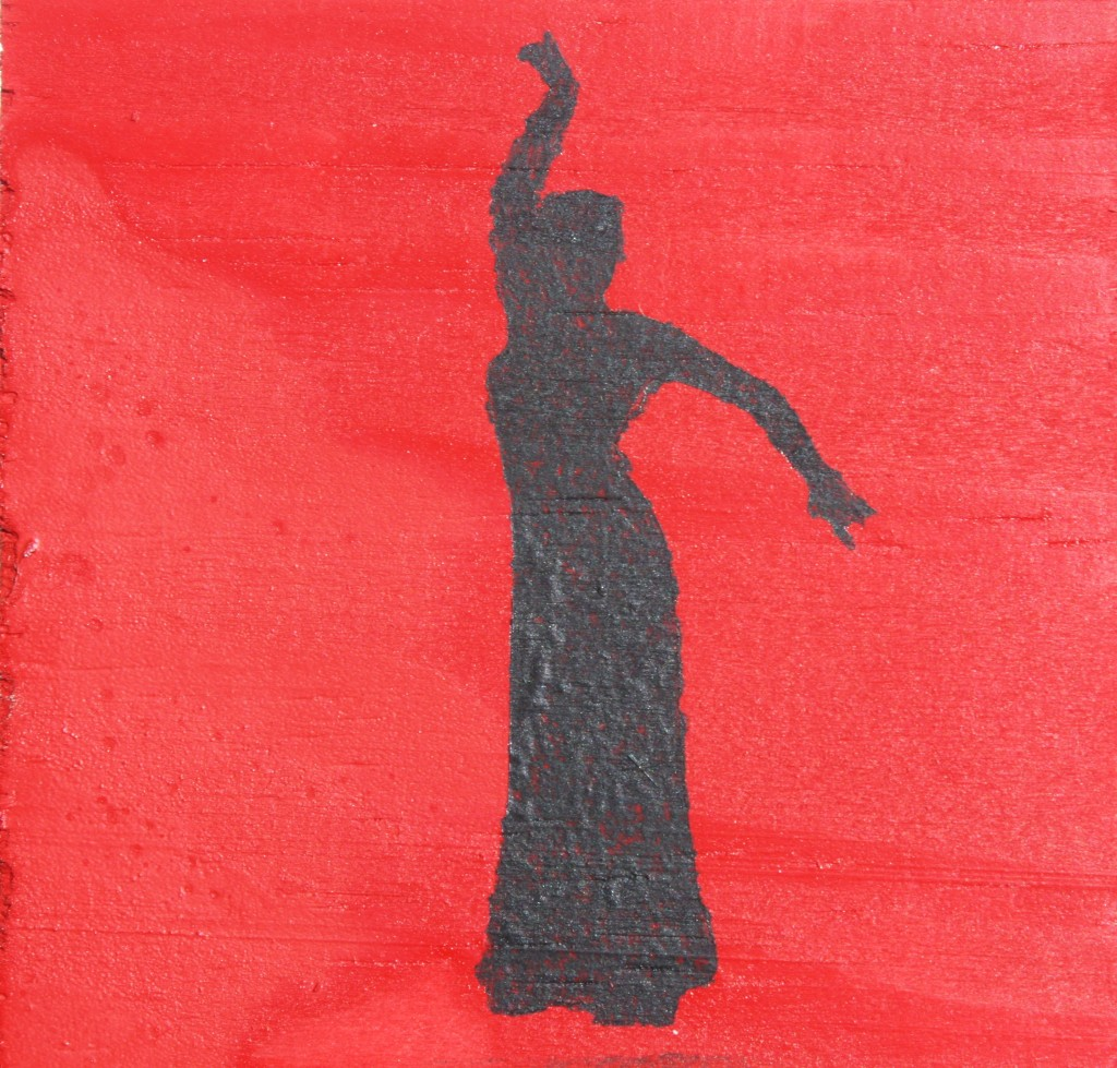 Flamenco dancer on Red.