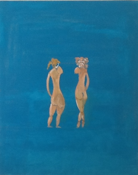 Florie & Zoe Aug 2015 80 x 100 cm R Cummiskey. Oil on canvas