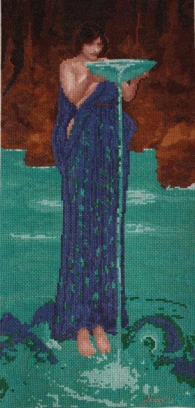 Circe after John Waterhouse 39 x 19 cm, 54,000 stitches