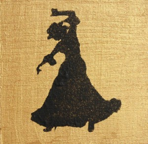 Flamenco Dancer - gold