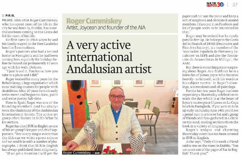 Artist, Joycean, Founder AIA