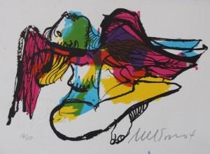 3. Nelson Dominguez - 16 x 11.5 cm. 6.25 x 4.5 Mujer con espanptapájaros (scarecrow) 16:50