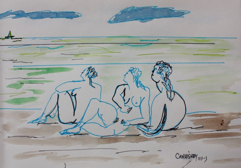 Three ladies on the beach copy